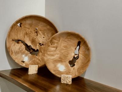 Figured Maple Bowl/Platter Medium & Large