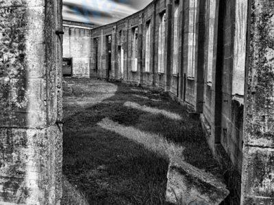Roundhouse, Big Valley, Alberta Long Exposure Photograph