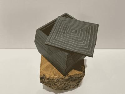 Small Box: Dyed Italian Recon, Grey