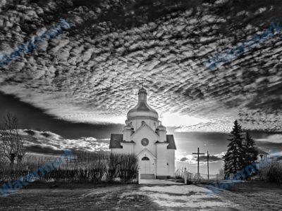 Ukrainian Catholic Parish of the Holy Transfiguration, Round Hill, AB Long Exposure Photograph