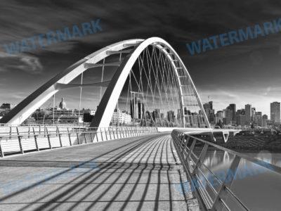 Walterdale Bridge, Edmonton, AB Long Exposure Photograph