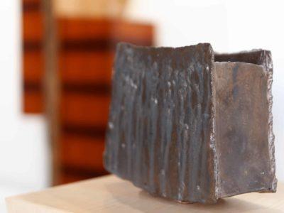 Bronze Low Vessel Shino Pottery