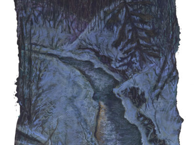 """""""Millcreek Footprints"""" Pastel (soft) 11″ x 20″ Without Framing Sold with or without framing"""
