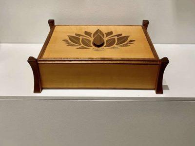 Lotus Wood Decorative Box Swiss Pearwood & Black Walnut
