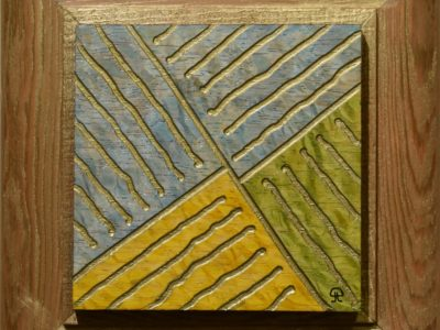 """""""CORRECTION LINE"""" - A PRAIRIE SEEN #126 Solid Lacewood 4"""" X 4"""""""